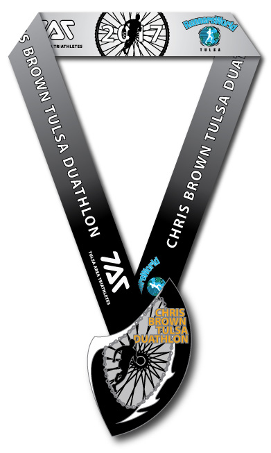 Finisher's Medal for the 2017 Chris Brown Duathlon