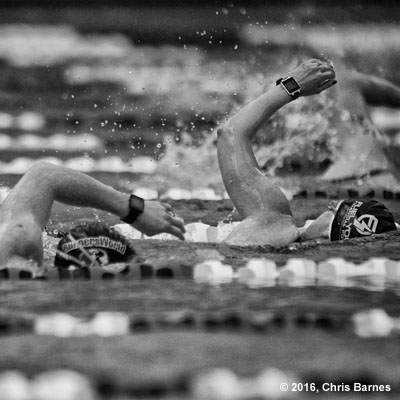 Swimmers at the 2016 Spring Fever Triathlon in Jenks, Oklahoma